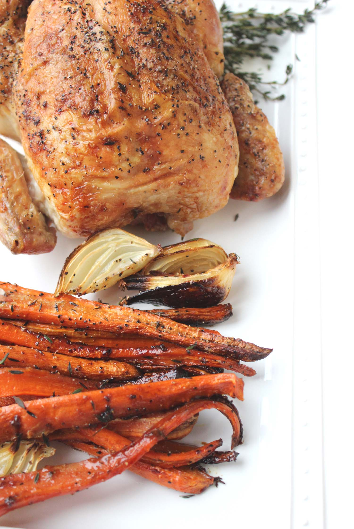 Lemon Garlic Roasted Chicken   | Image:   Laura Messersmith