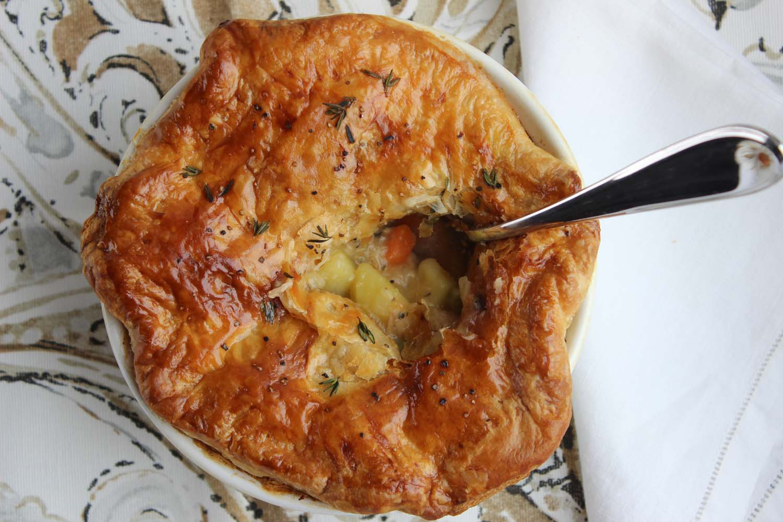 Thanksgiving Turkey Pot Pie    Image:  Laura Messersmith