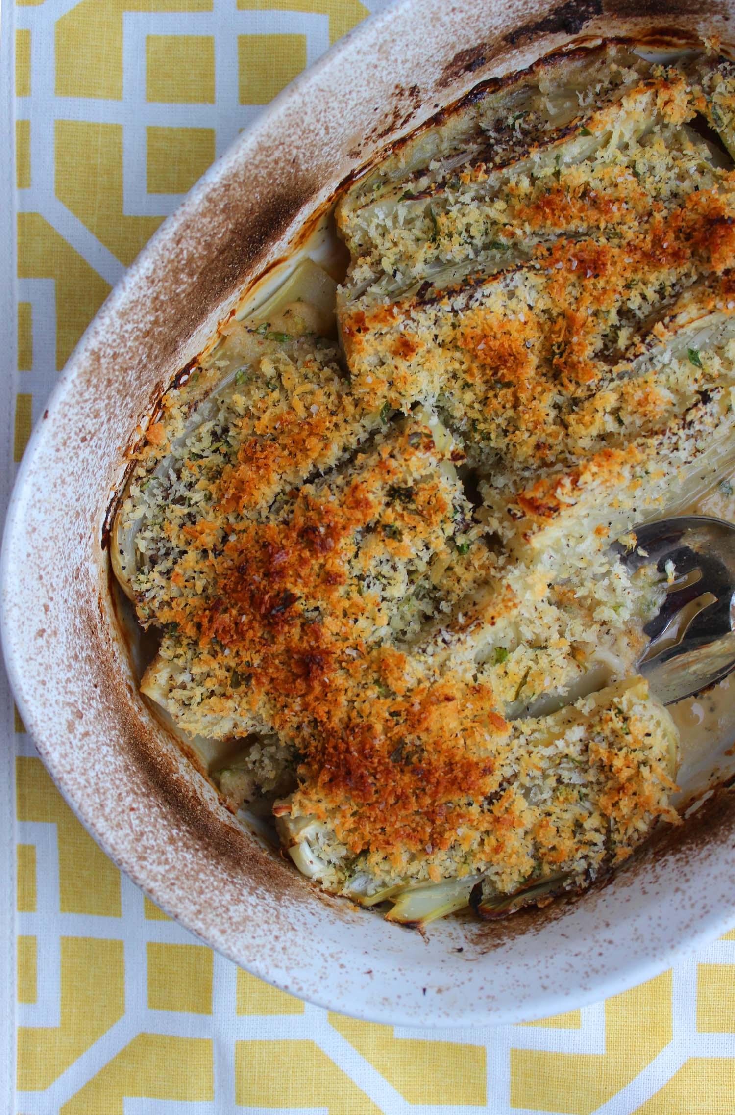 Parmesan Fennel Gratin     | Image:  Laura Messersmith