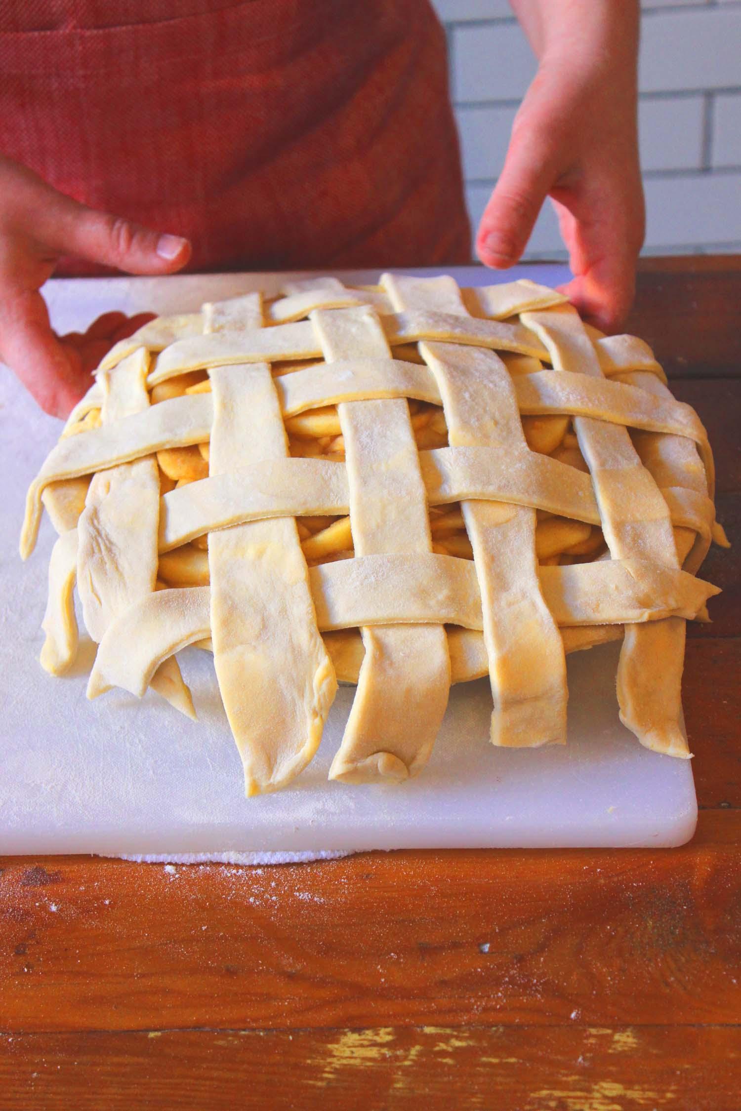 Classic Lattice Pie Crust   Image: Laura Messersmith