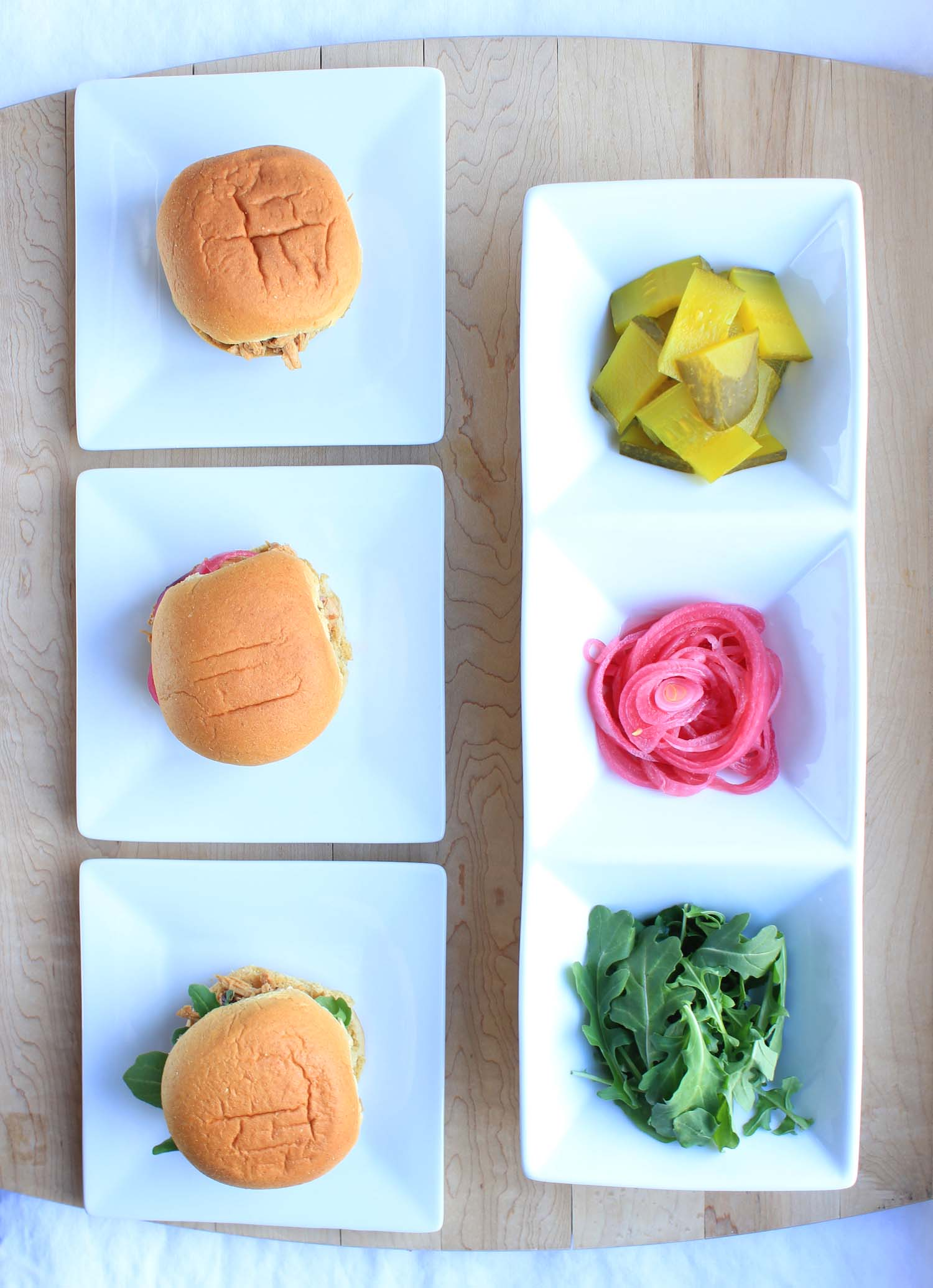 Black Pepper Molasses Pulled Chicken Sliders  | Image:  Laura Messersmith