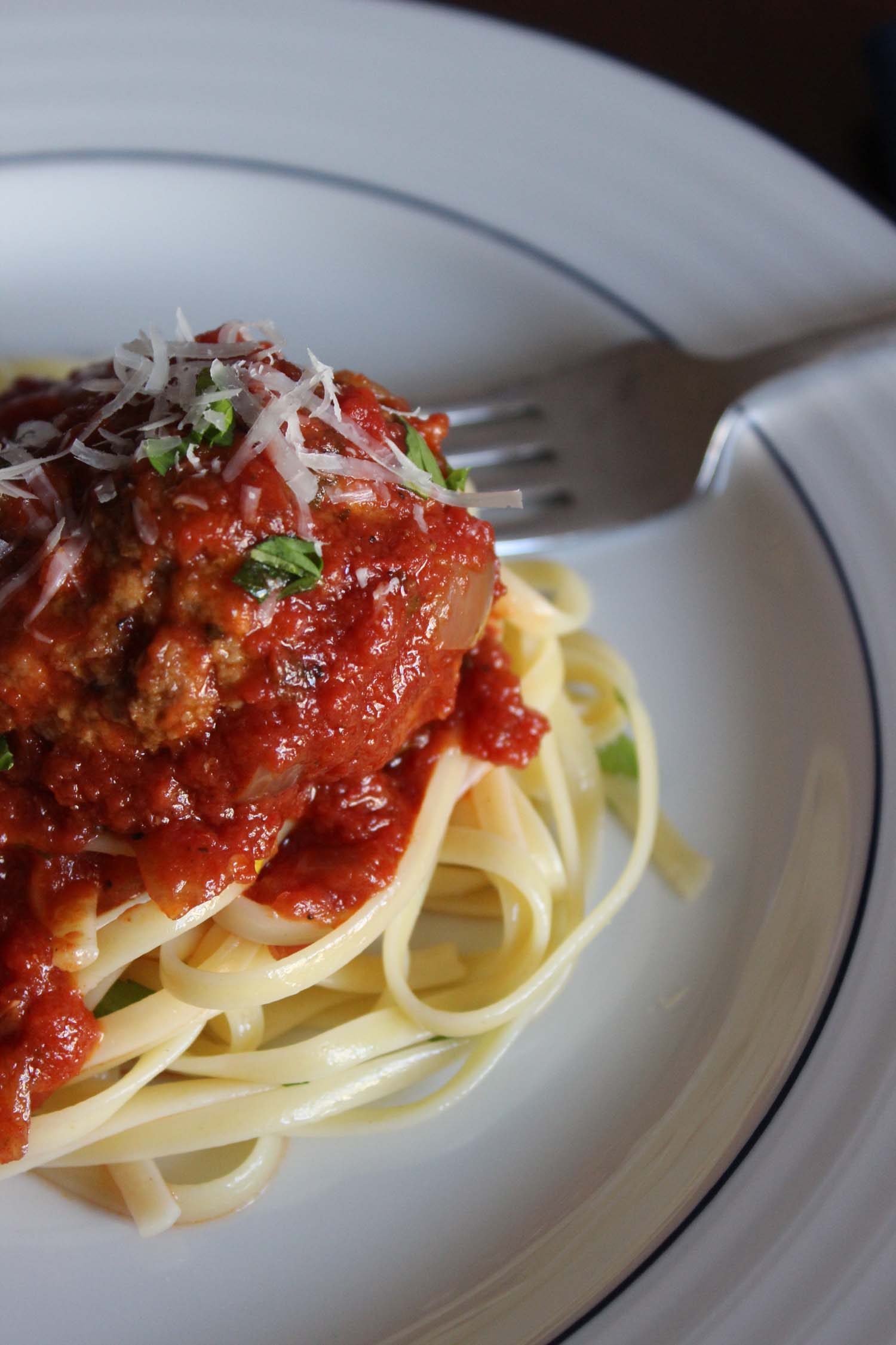 Real Meatballs and Spaghetti | Image: Laura Messersmith