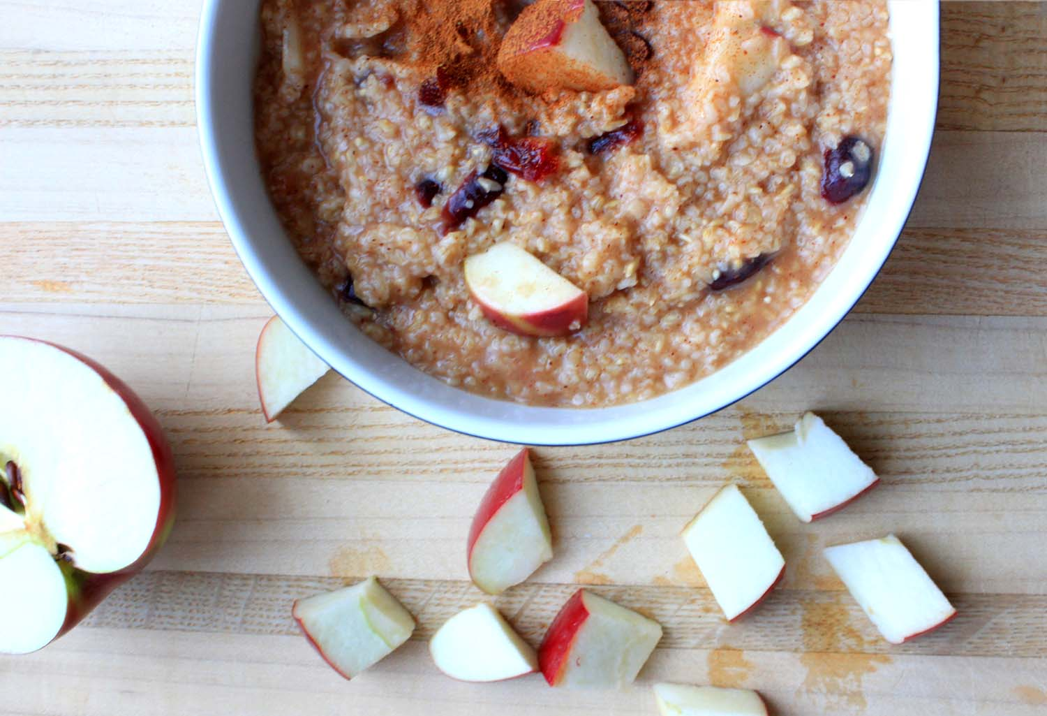 Cranberry Apple Steel-cut Oatmeal   Image:  Laura Messersmith