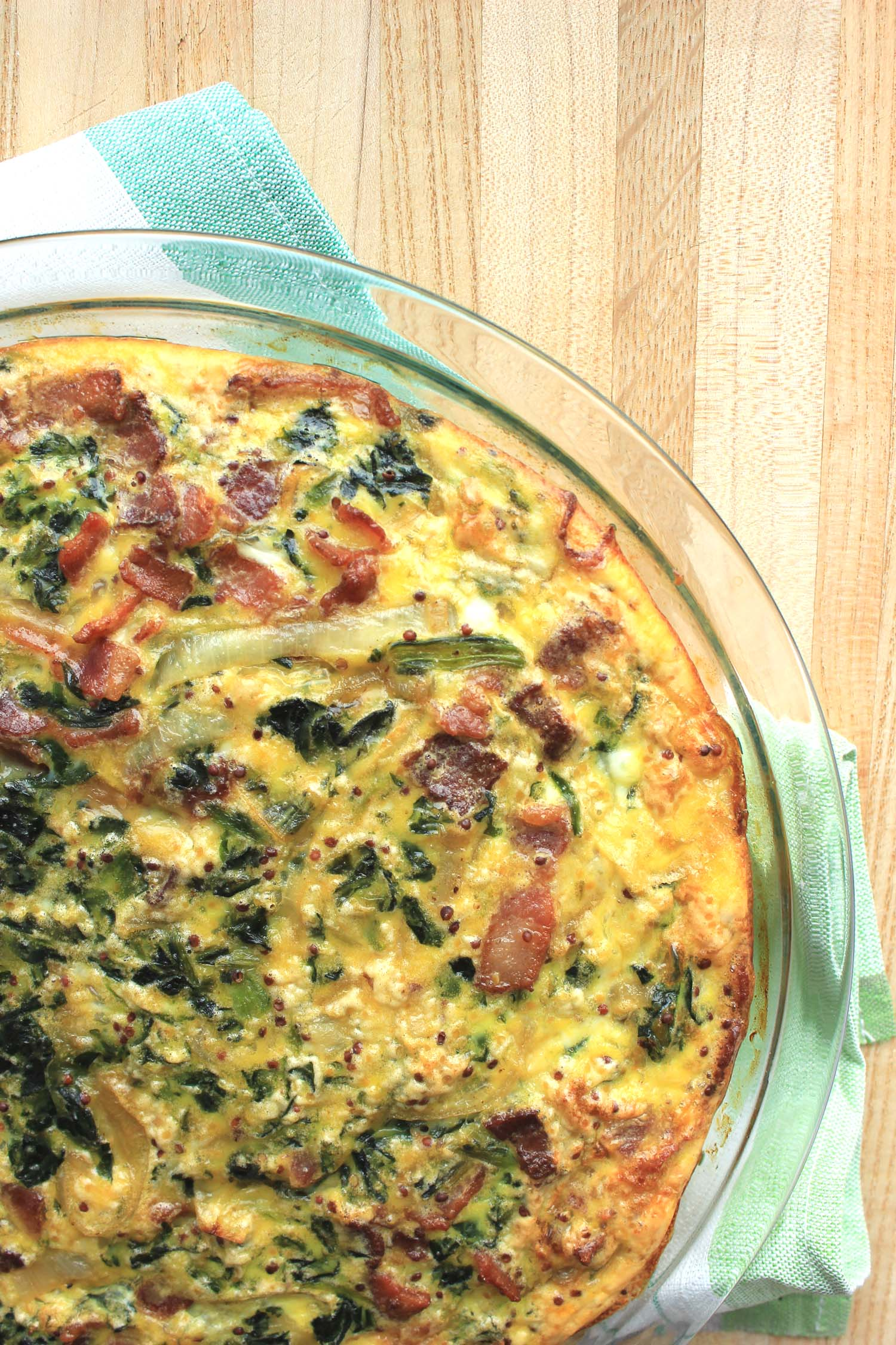 Spinach Salad Frittata   | Image:   Laura Messersmith