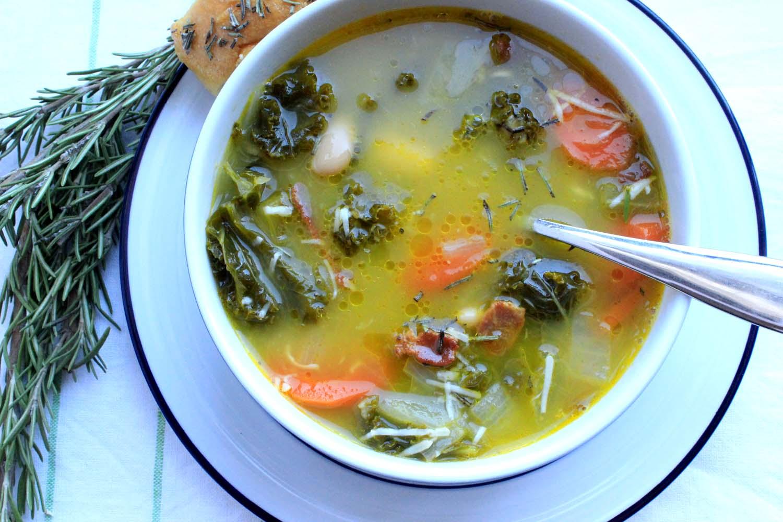 Tuscan White Bean & KaleSoup  | Image:  Laura Messersmith