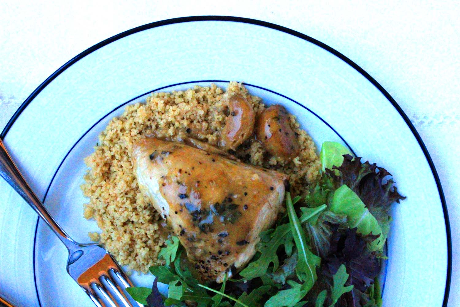 Chicken with Forty Cloves of Garlic   Image: Laura Messersmith