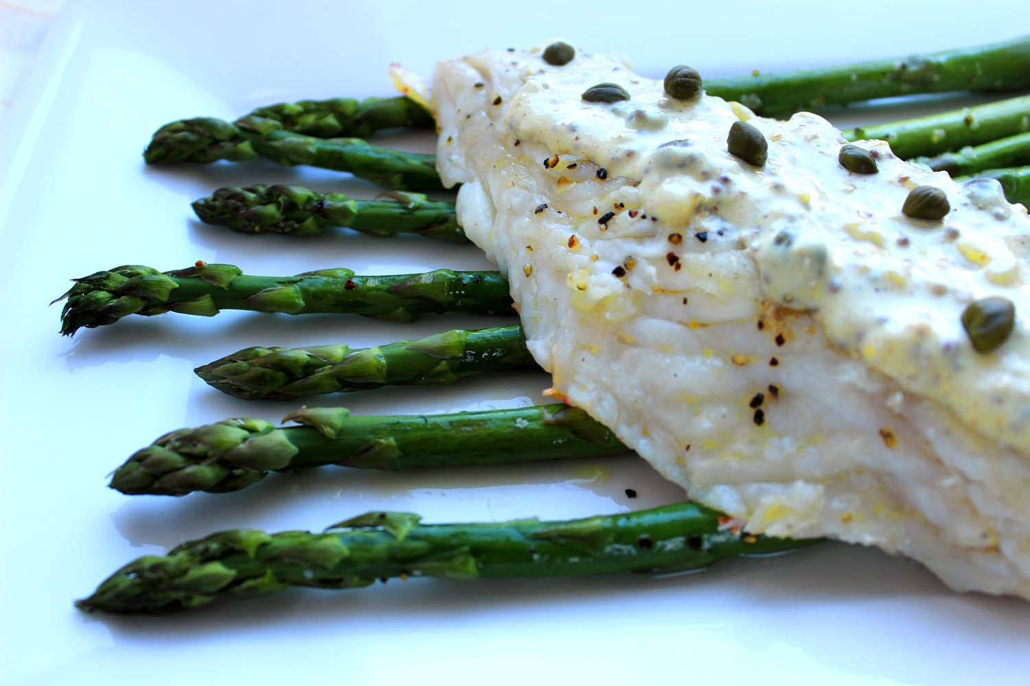 Pan Sautéed Red Snapper with Mustard Sauce  | Image:  Laura Messersmith