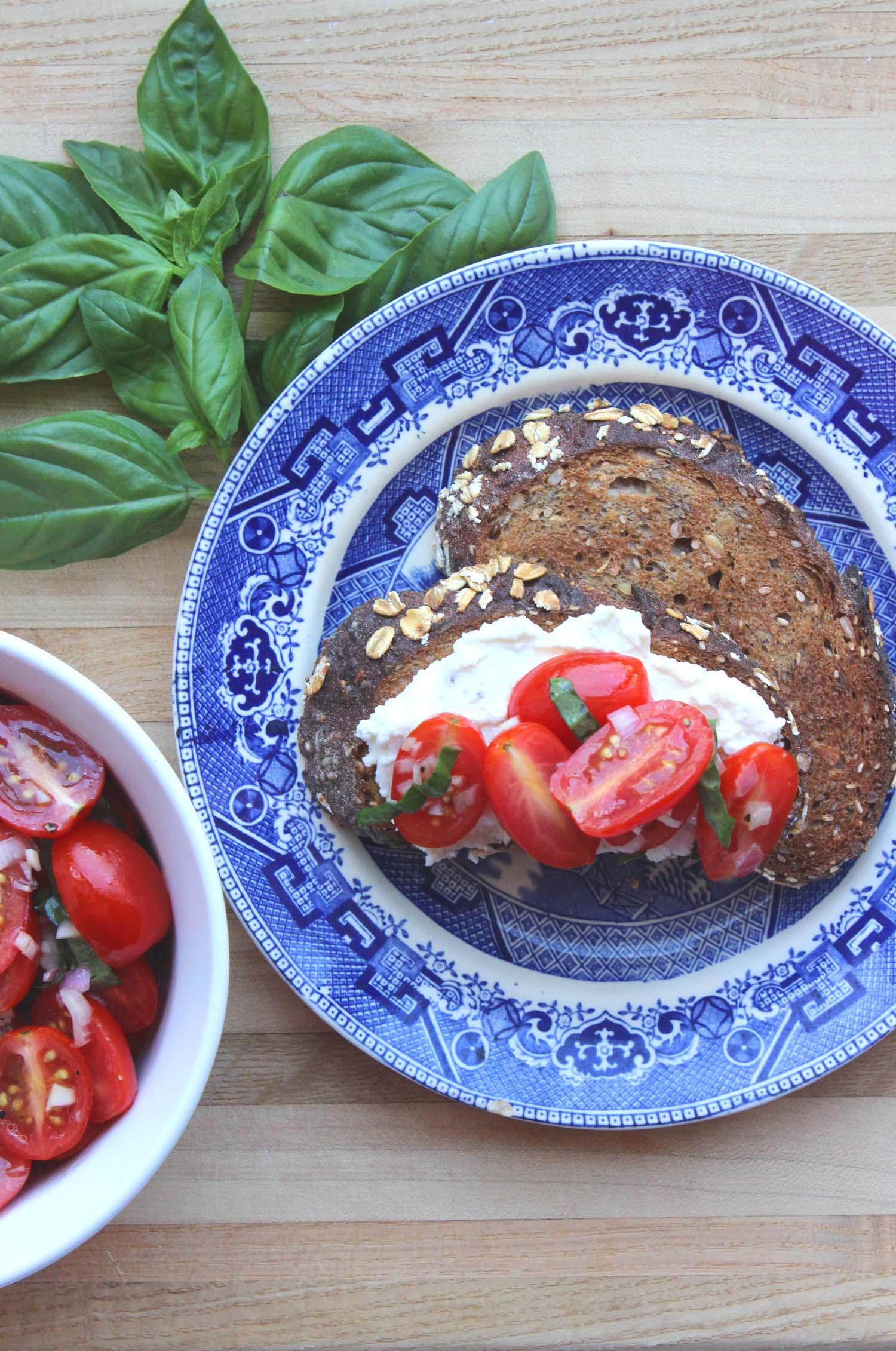 Tomato Crostini with Whipped Feta  | Image:  Laura Messersmith