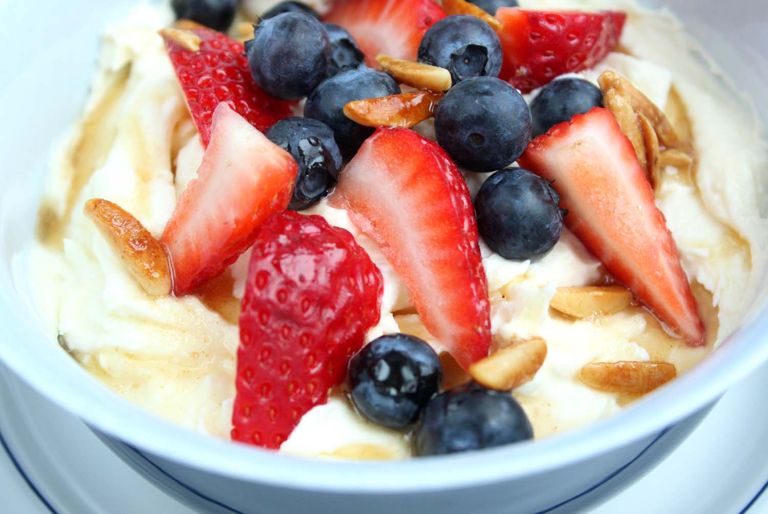 Breakfast Ricotta with Berries & Maple Syrup   | Image:   Laura Messersmith