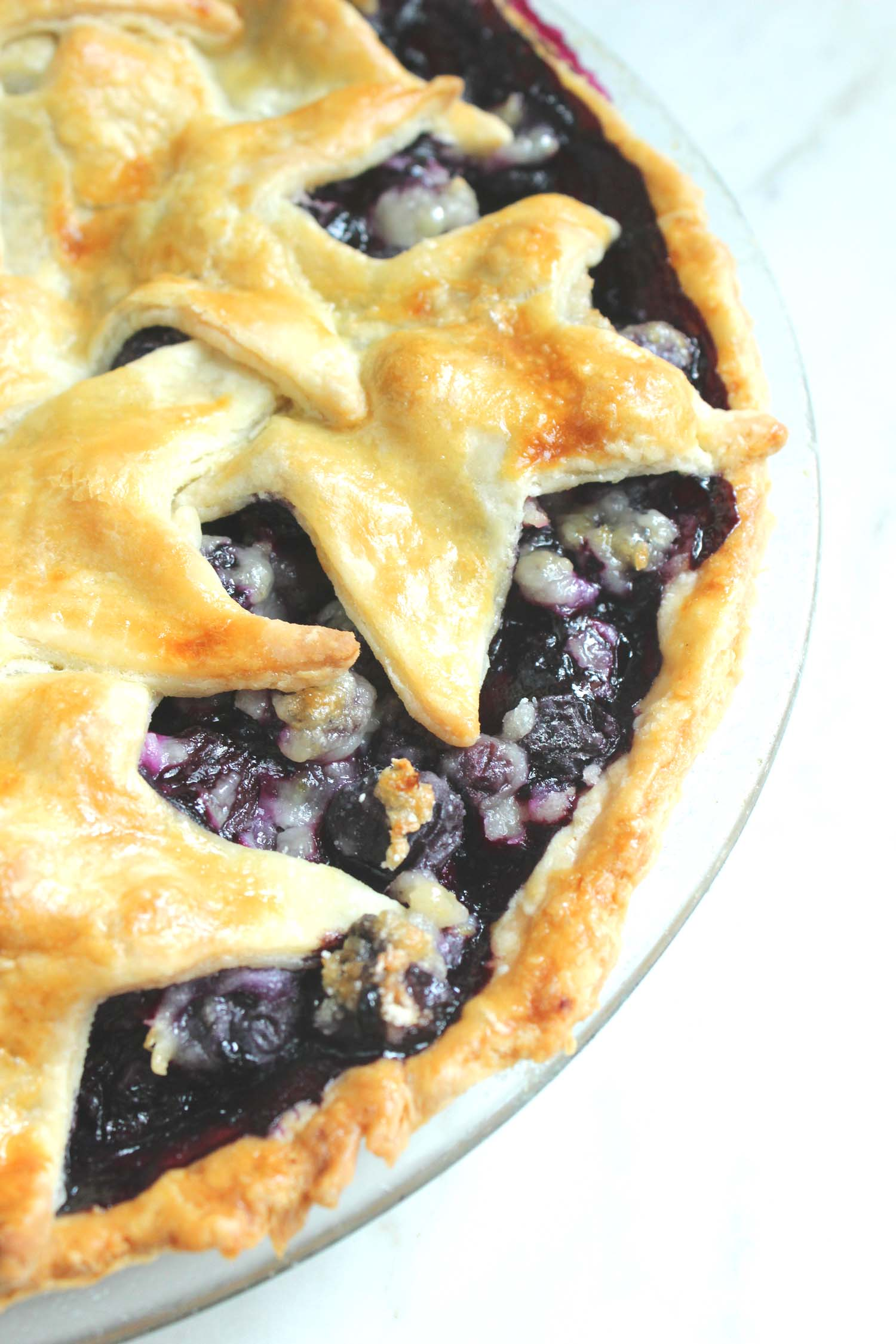 Fourth of July Blueberry Pie