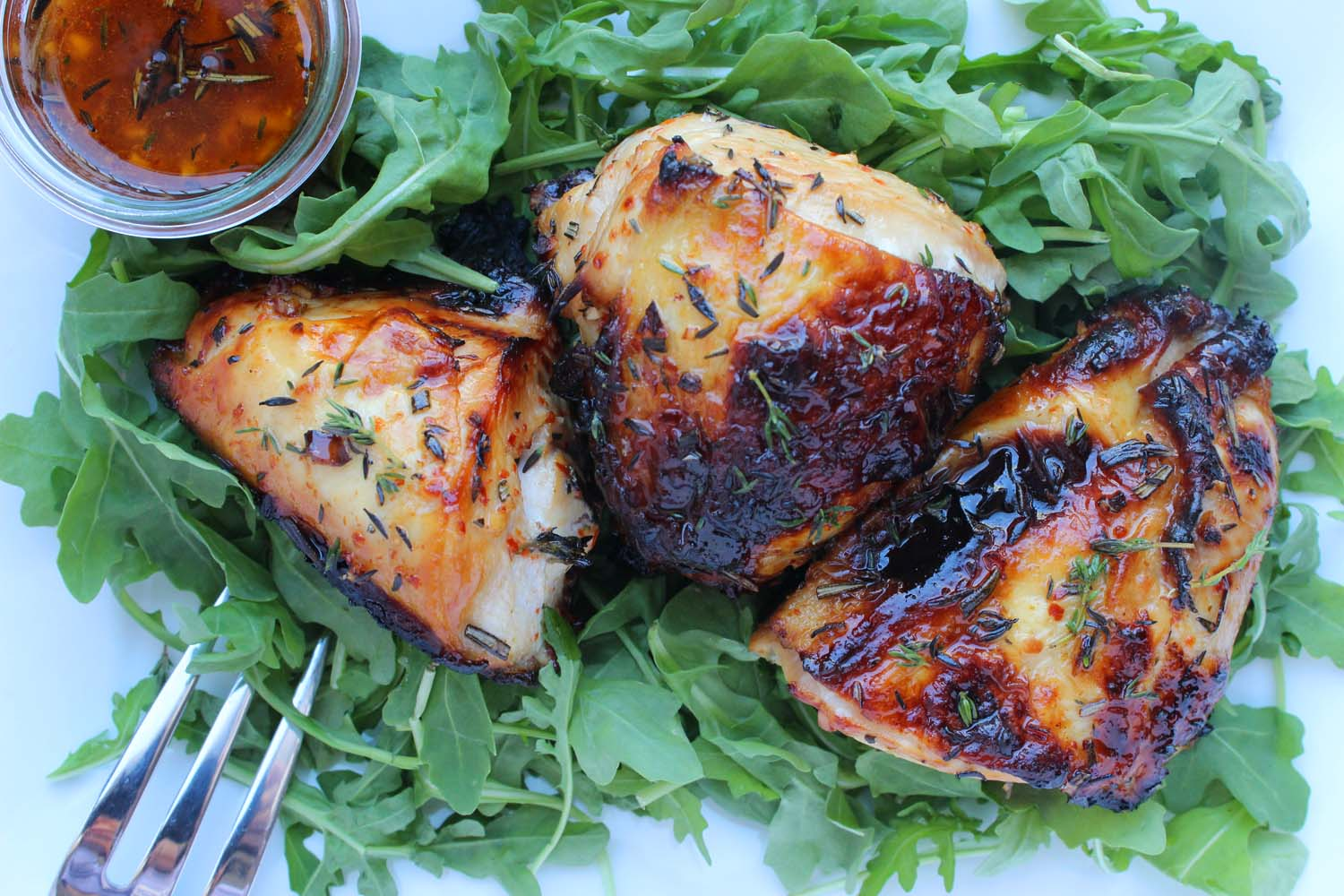 Roasted Chicken with Honey & Aleppo Pepper   | Image:   Laura Messersmith