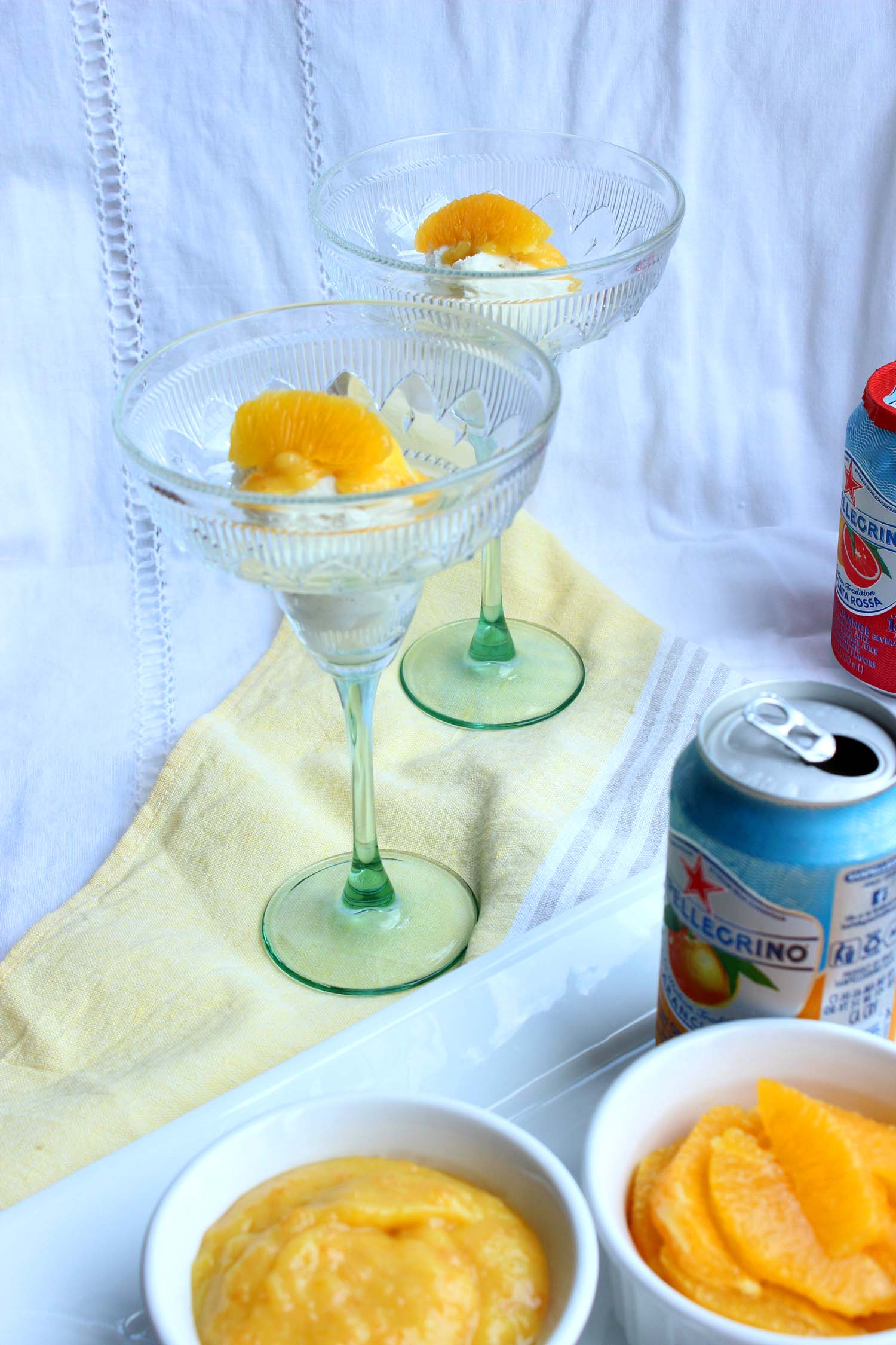 Orange Curd Creamsicle Float   | Image:   Laura Messersmith
