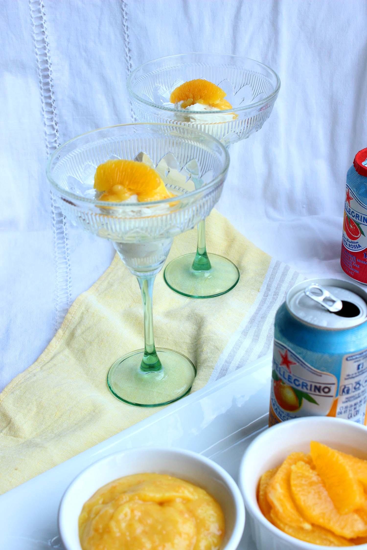 Orange Curd Creamsicle Float  | Image:  Laura Messersmith