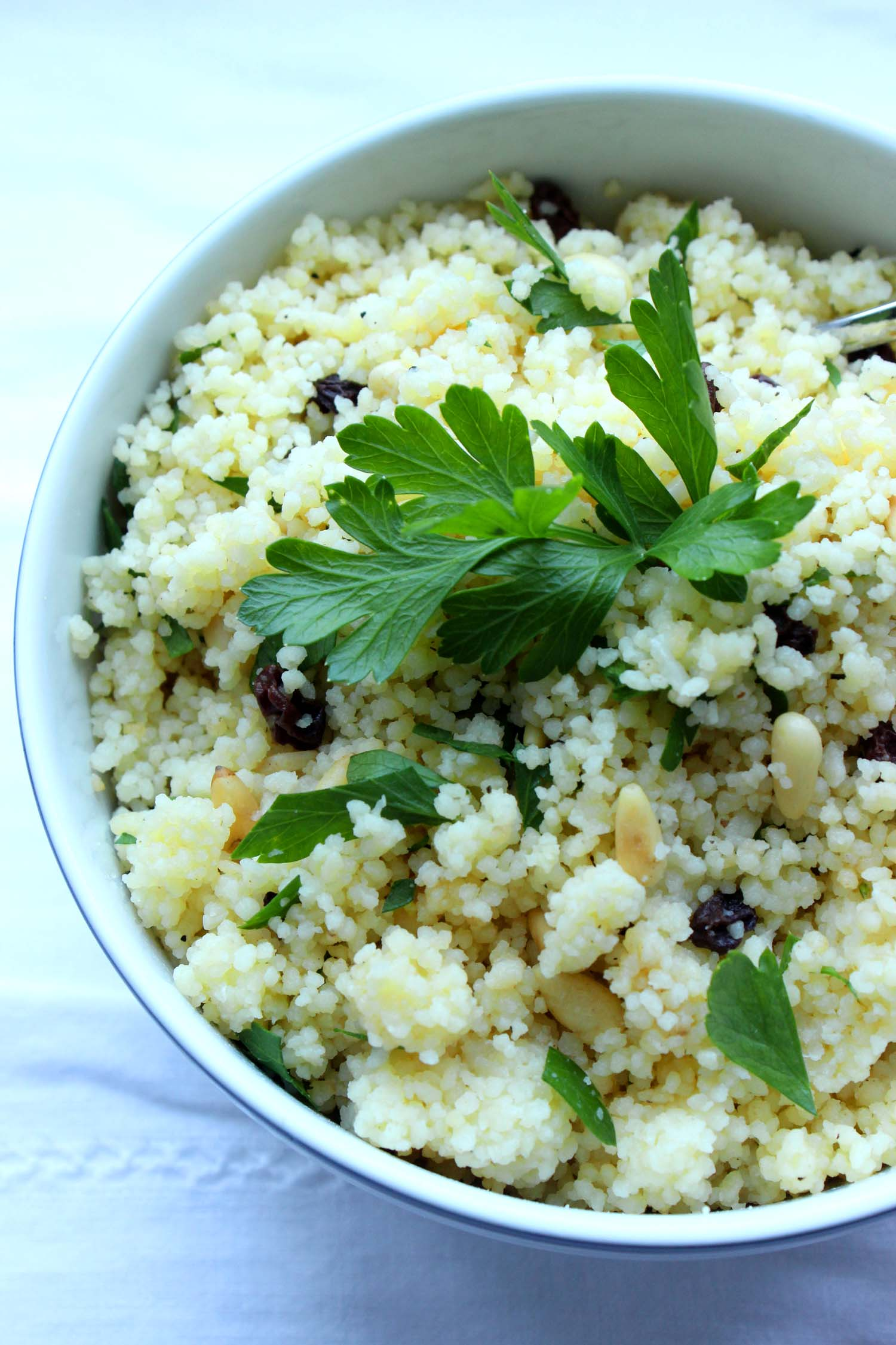 Couscous with Pine Nuts & Currants  | Image:  Laura Messersmith