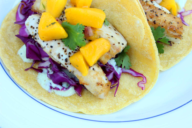 Mahi Mahi Fish Tacos with Mango Salsa | Image: Laura Messersmith