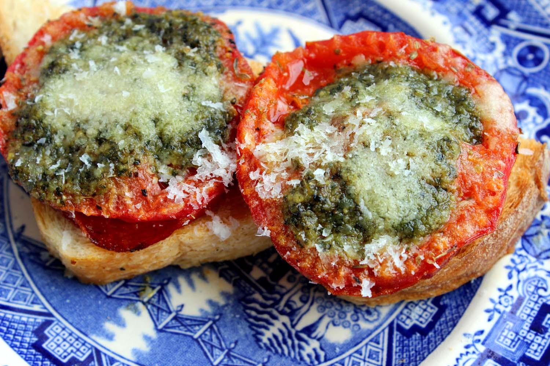 Tomatoes with Pesto  | Image:  Laura Messersmith