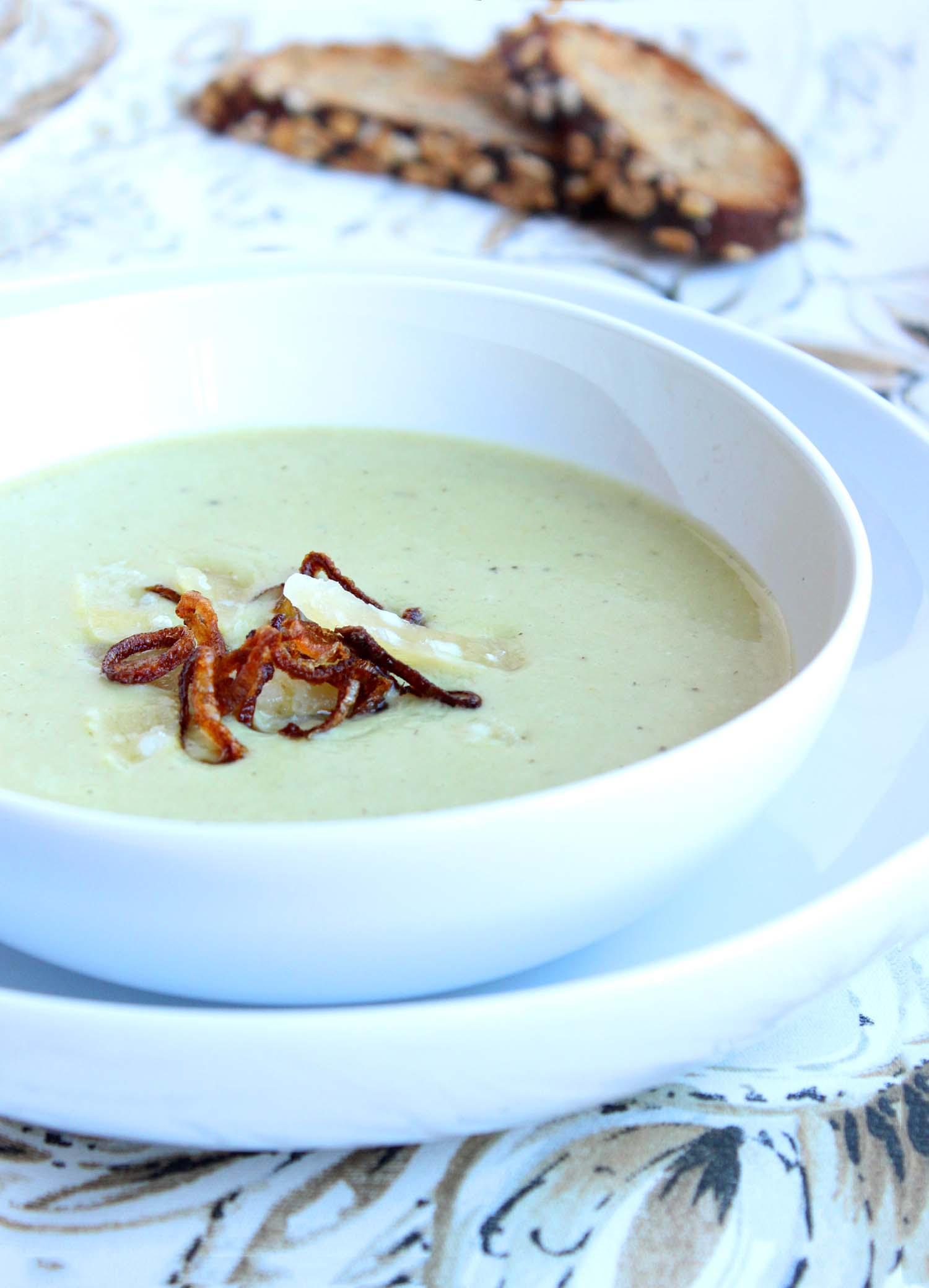 Roasted Potato Leek Soup  | Image:  Laura Messersmith