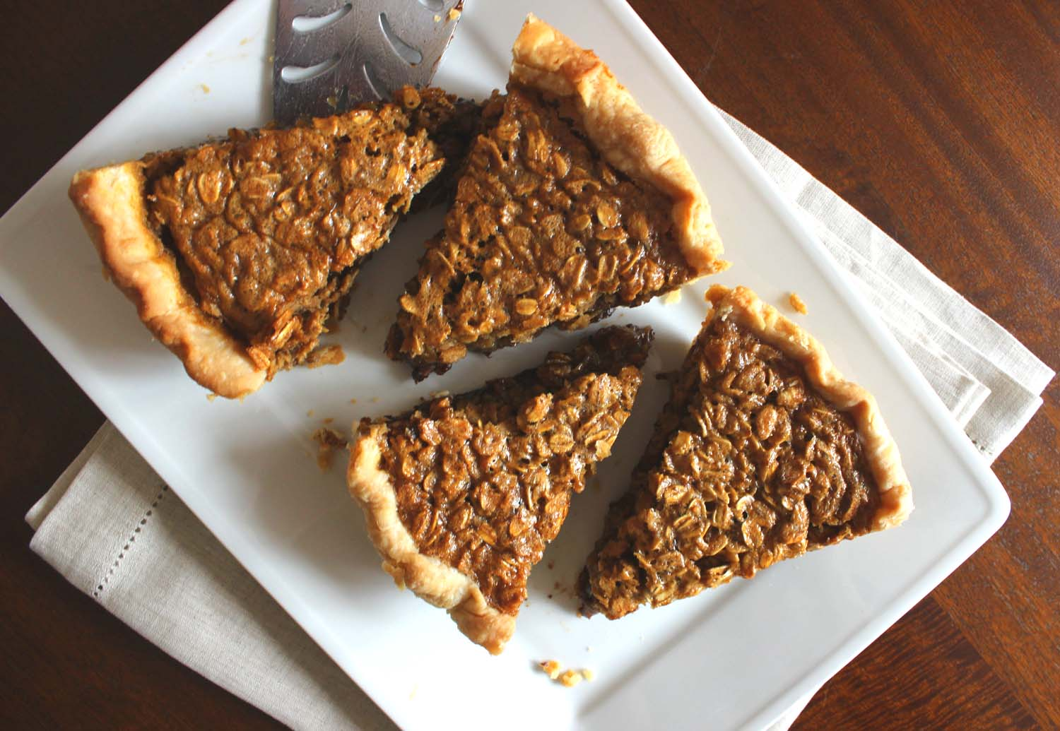 Black Bottom Oatmeal Pie   | Image:   Laura Messersmith