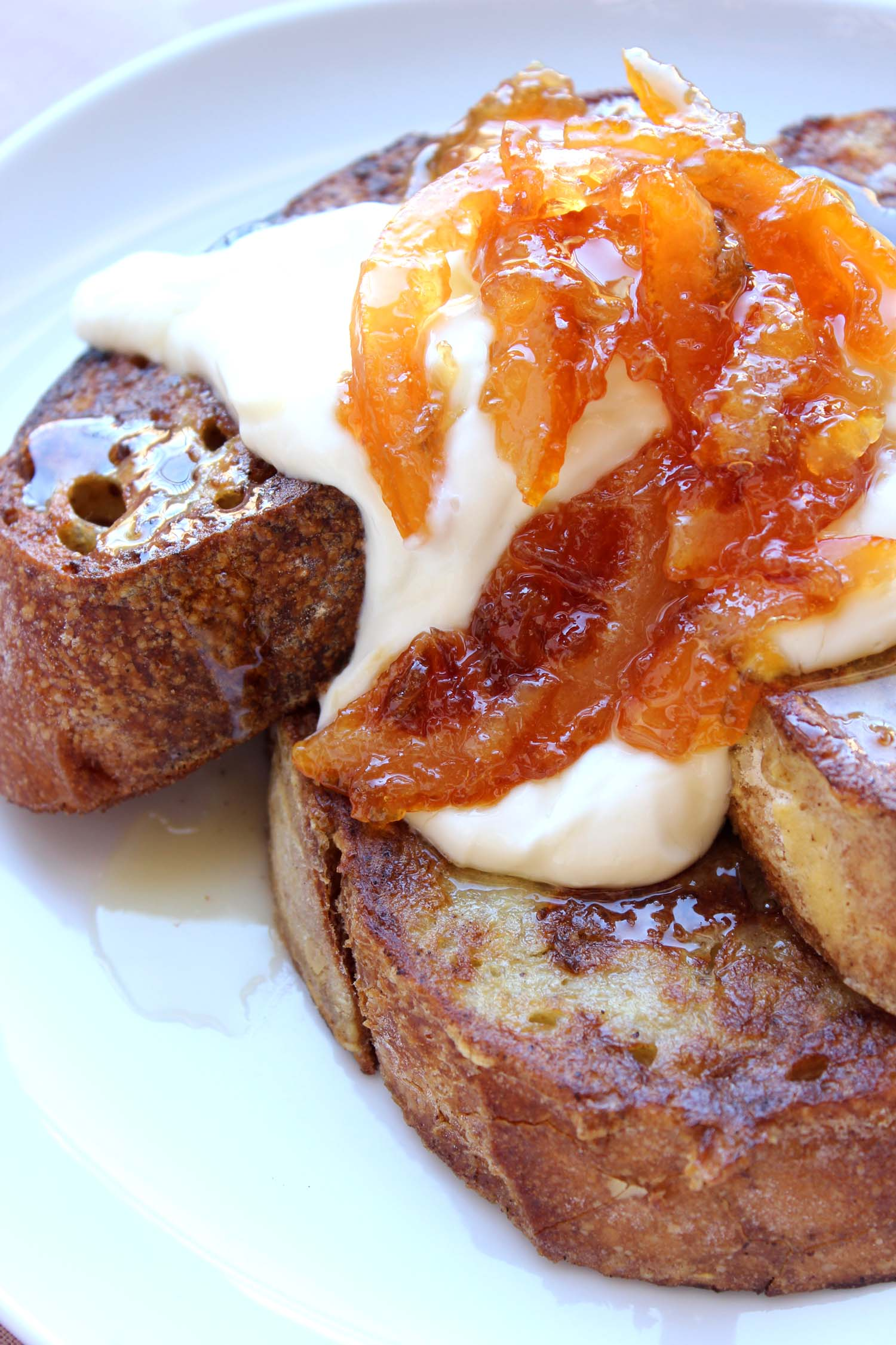 Blood Orange Marmalade French Toast  | Image:  Laura Messersmith