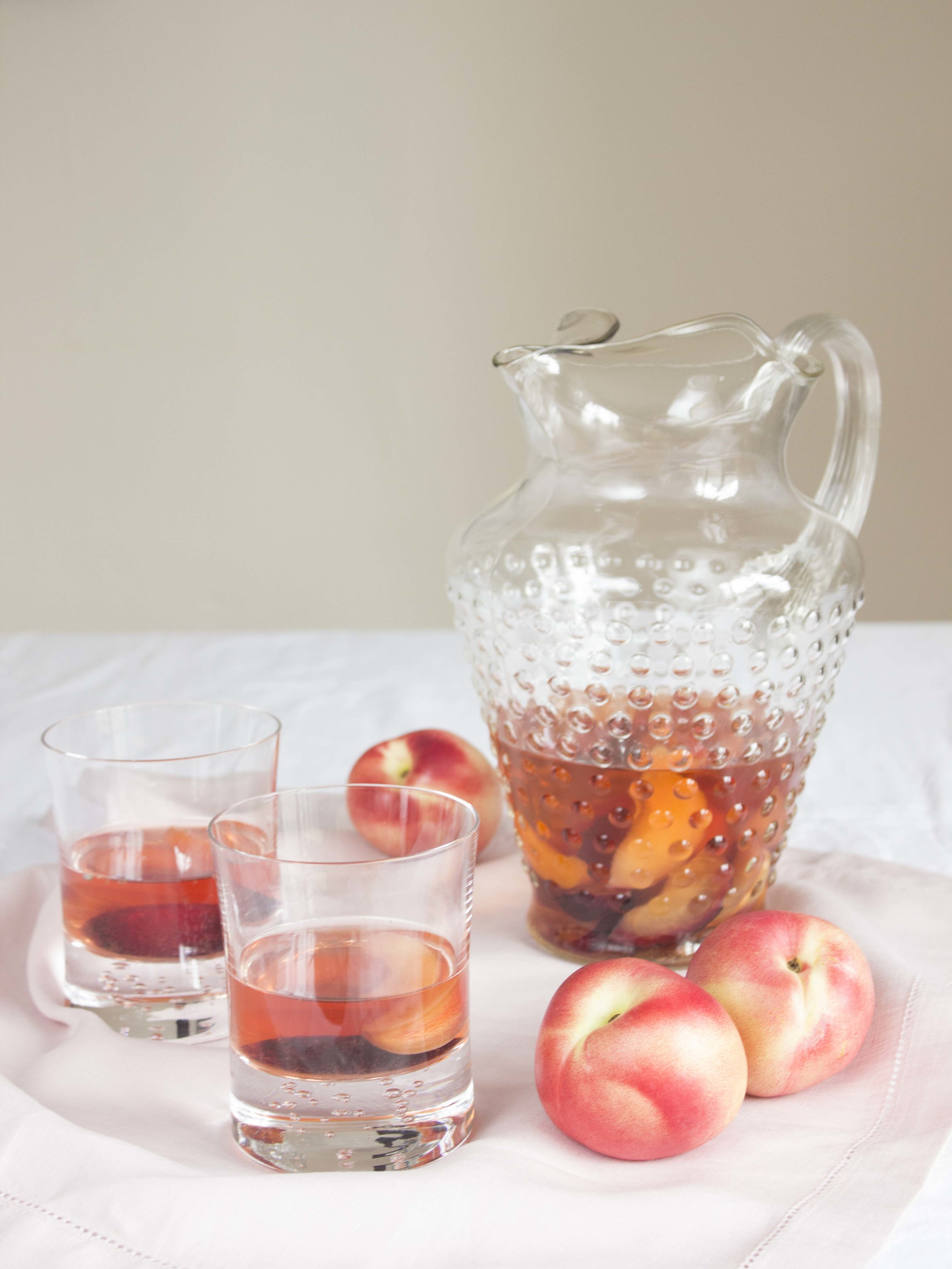 Lavender and Stone Fruit Rosé Sangria