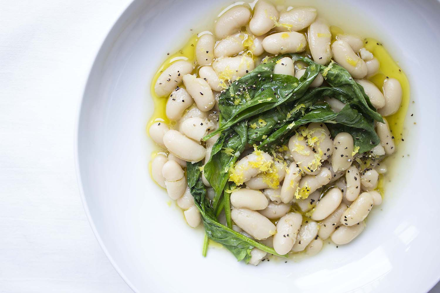 Cannellini Beans with Spinach  | Image:  Laura Messersmith