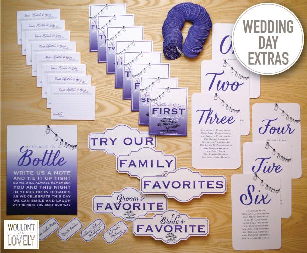 Wedding day design details