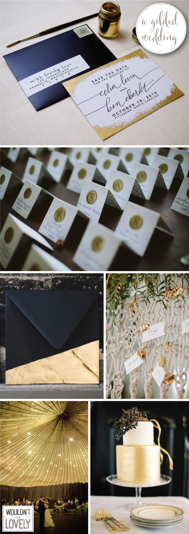 GILDED gold and white WEDDING inspiration