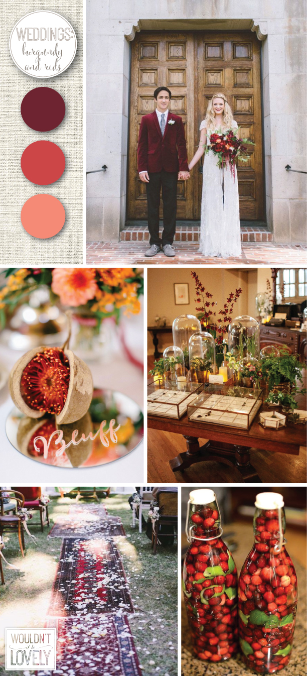burgundy and red wedding colors