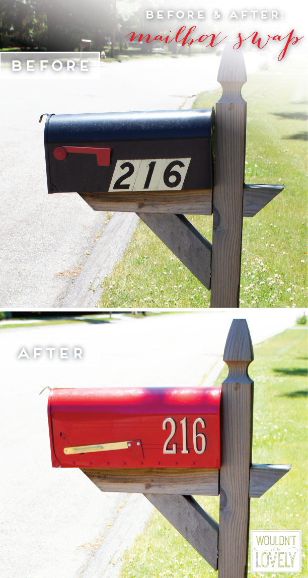 mailbox before and after