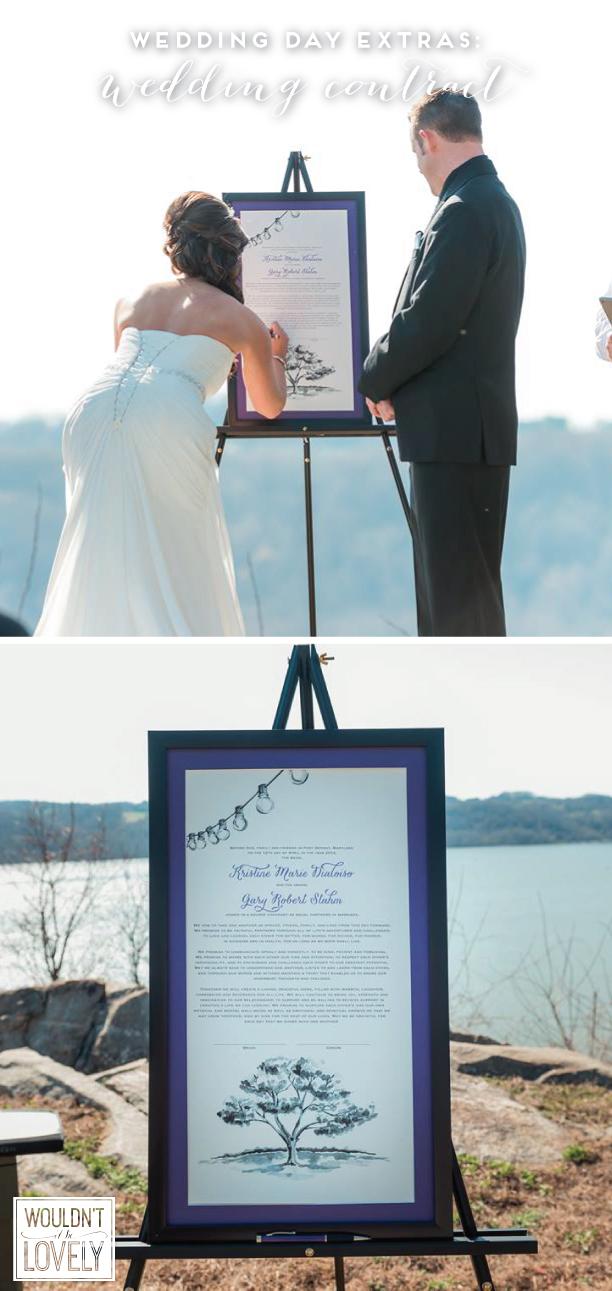 custom designed wedding contract