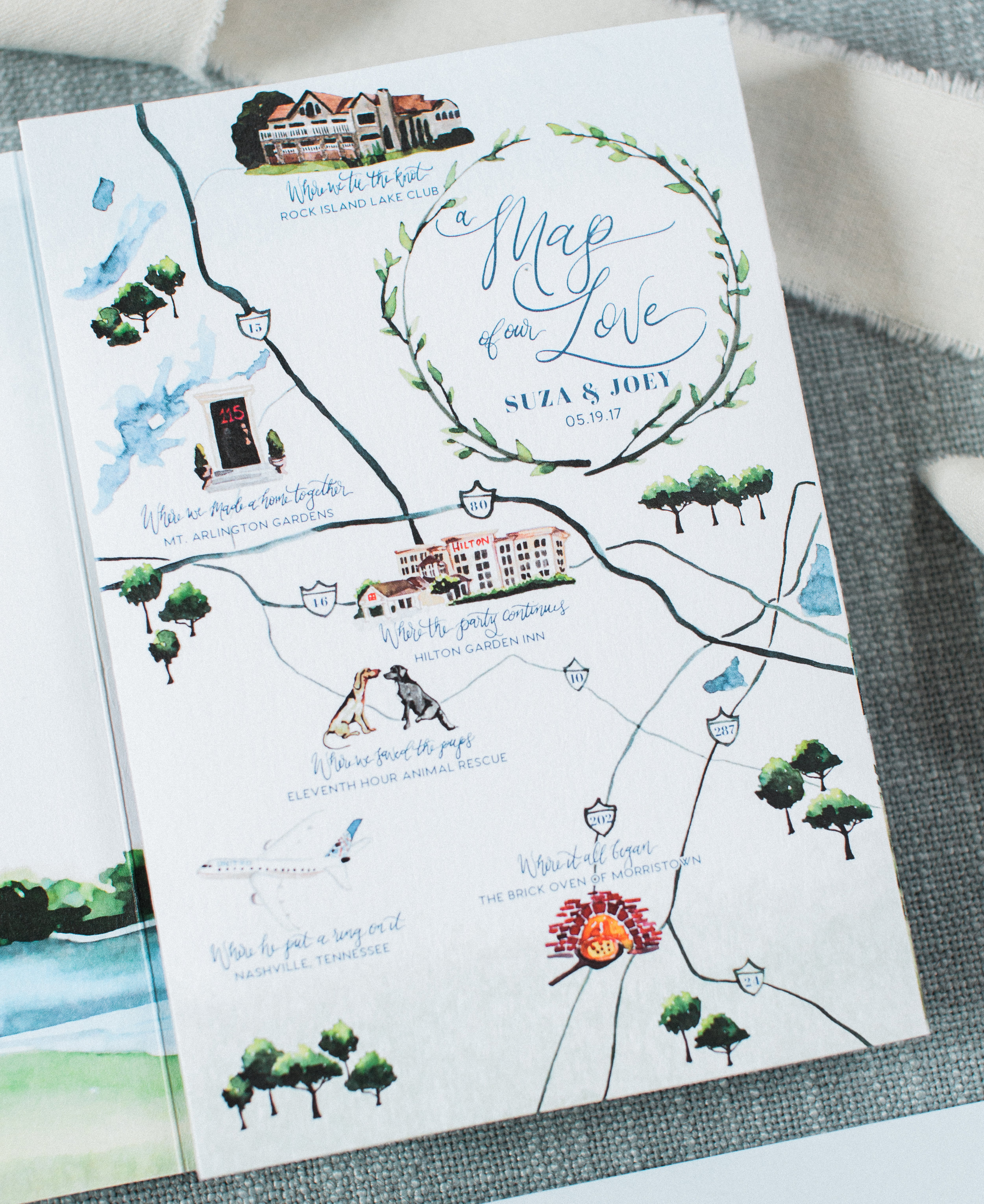 Wedding Map of Our Love