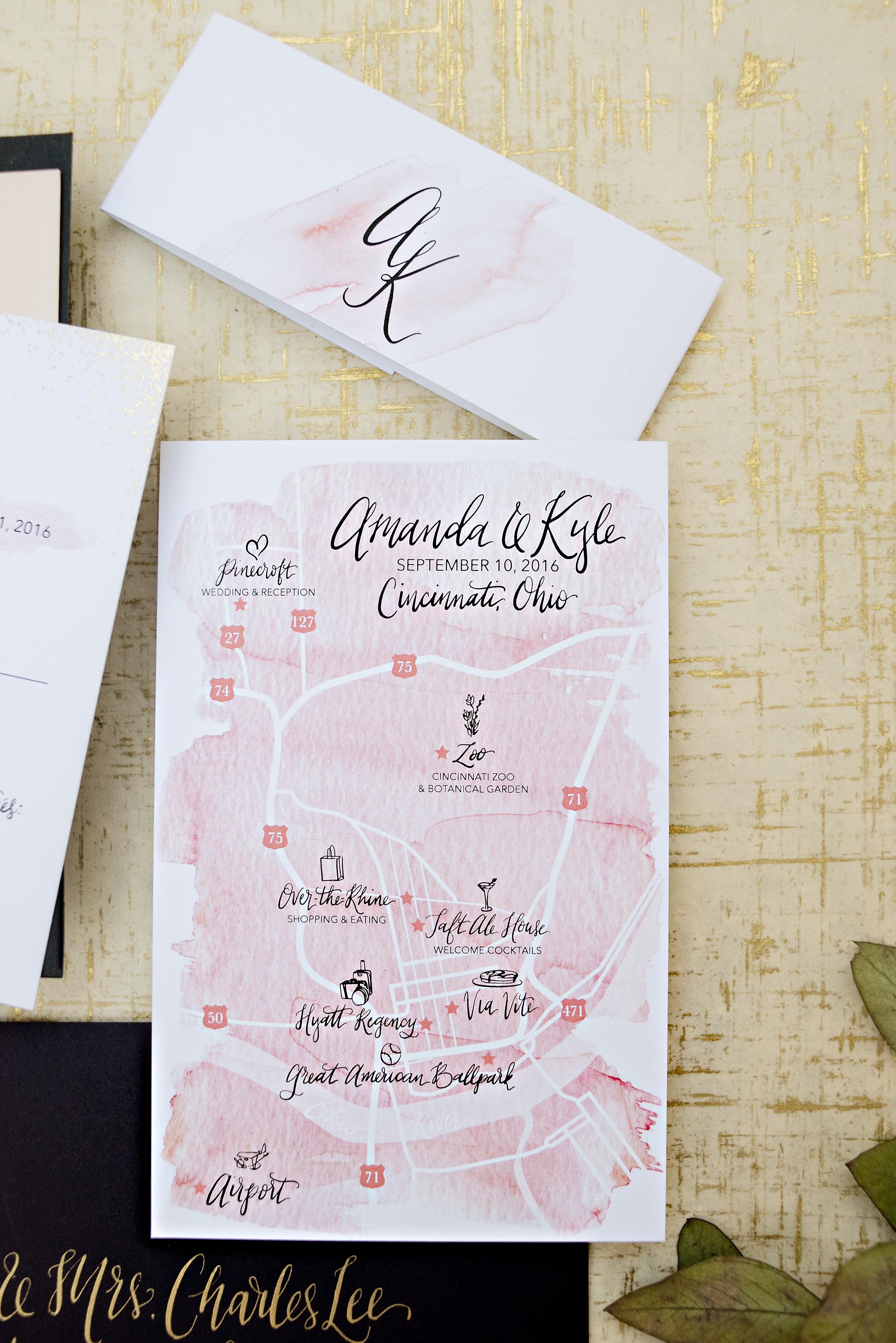 Cincinnati, Ohio Wedding Map
