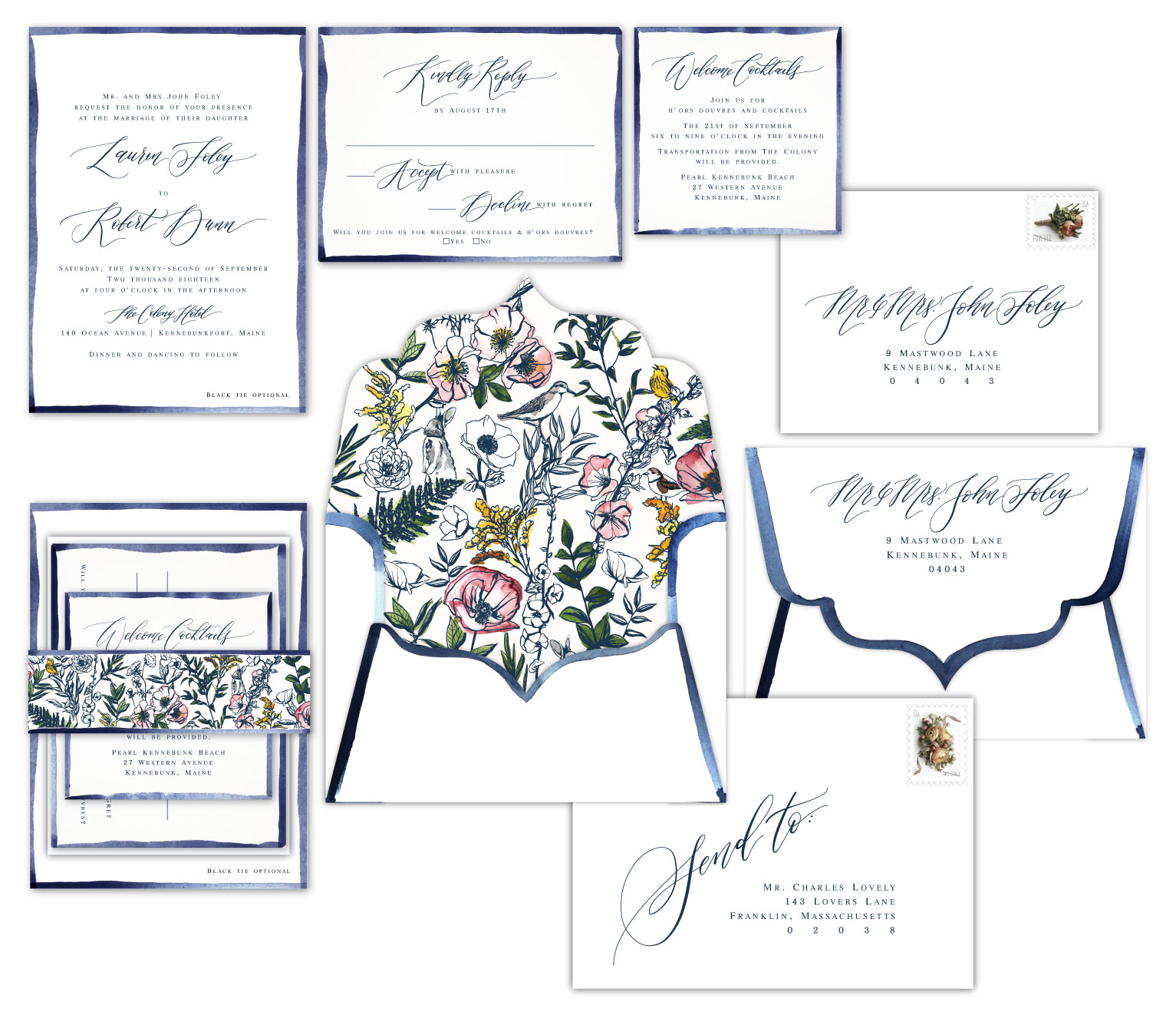 wedding invitation design mockup