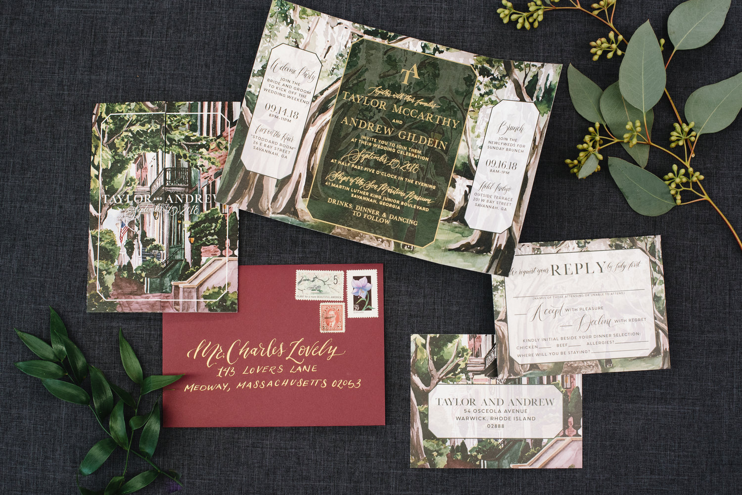Watercolor Wedding Invitations — Wouldn't it be Lovely