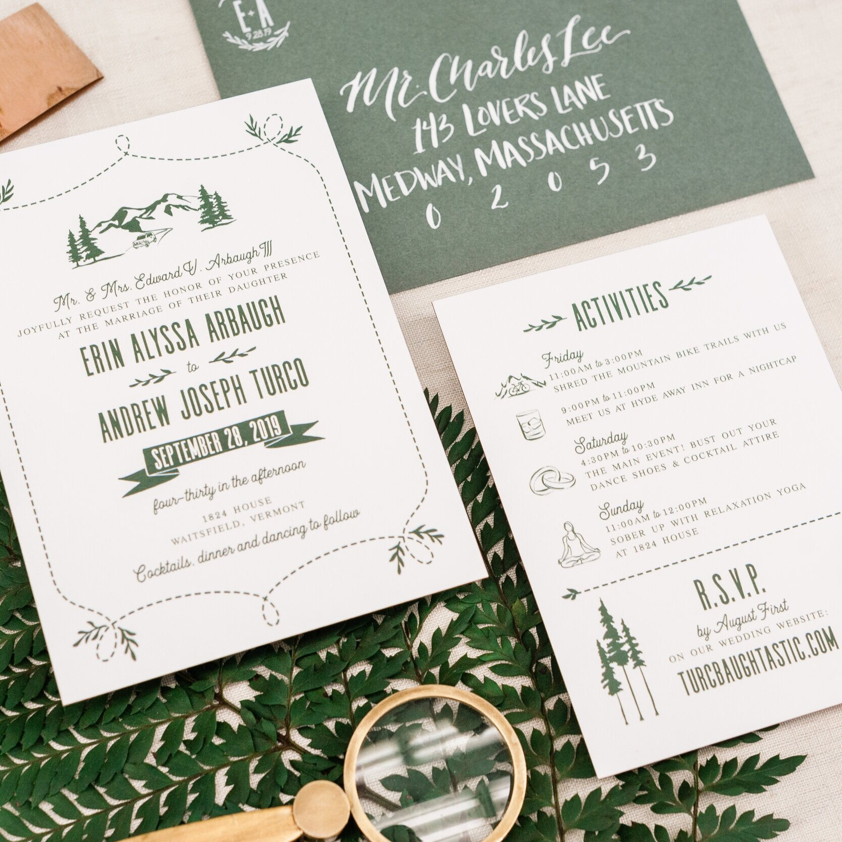 MODERN GRAPHIC CASUAL WEDDING INVITATIONS