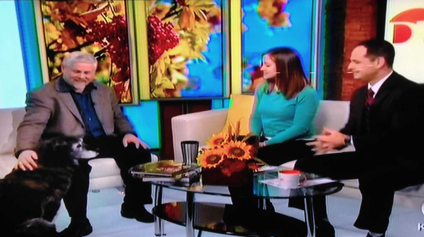 Thank you to  James and Megan  for making this live interview so easy and fun.  November 21, 2014    Click  HERE  to view this fun preview of the book as discussed on Daybreak.  .s.  next time,we'll bring flooring with some traction for Miss Grizzabella.