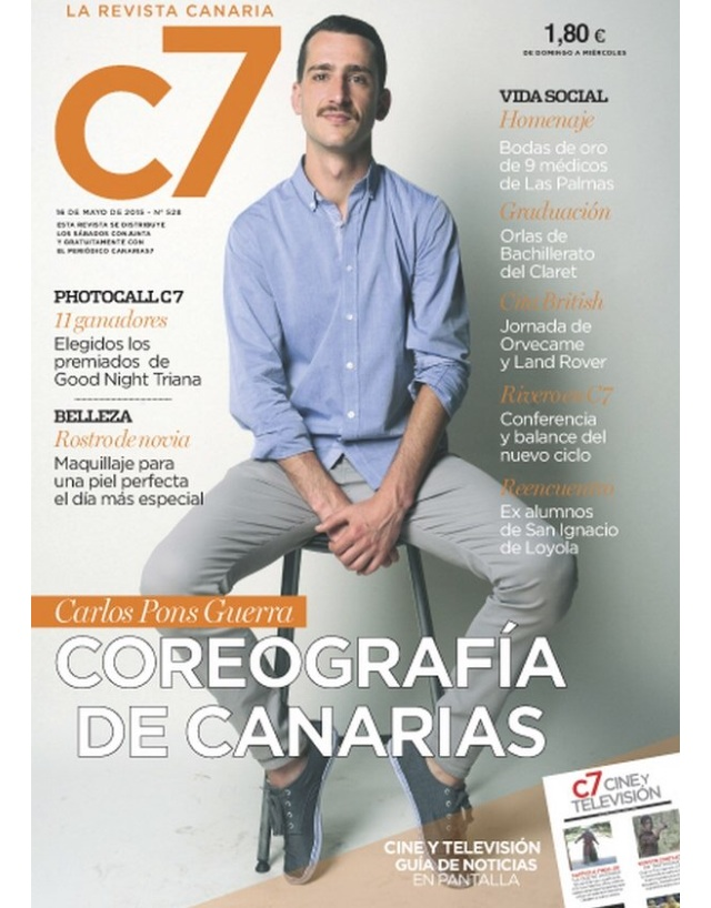 Carlos Pons Guerra on the cover of C7 magazine.