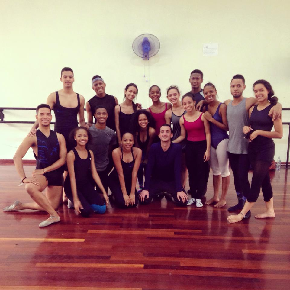 Carlos Pons Guerra with students of the National Dance School, Dominican Republic