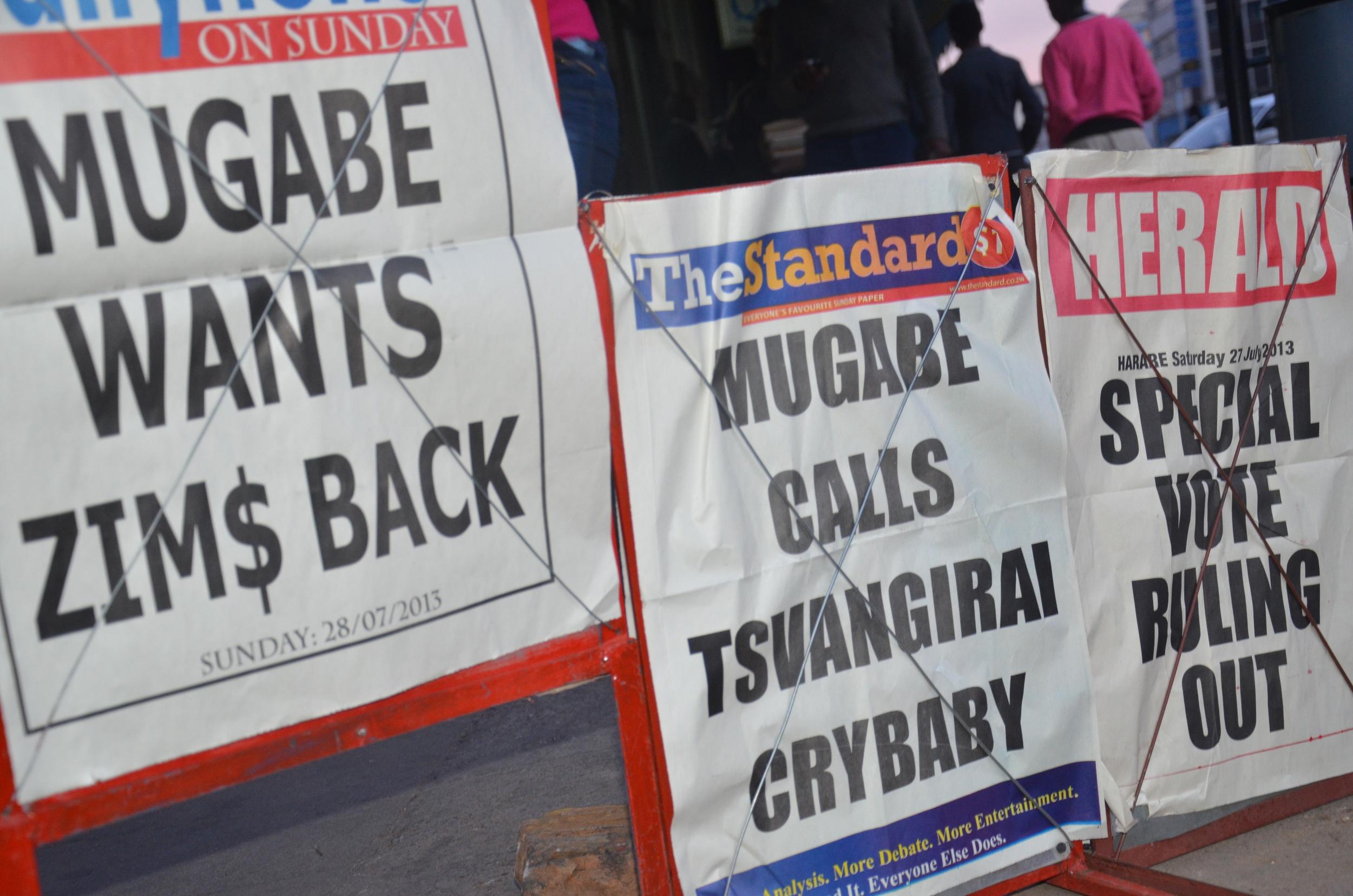 Newspaper headlines on 28 July 2013