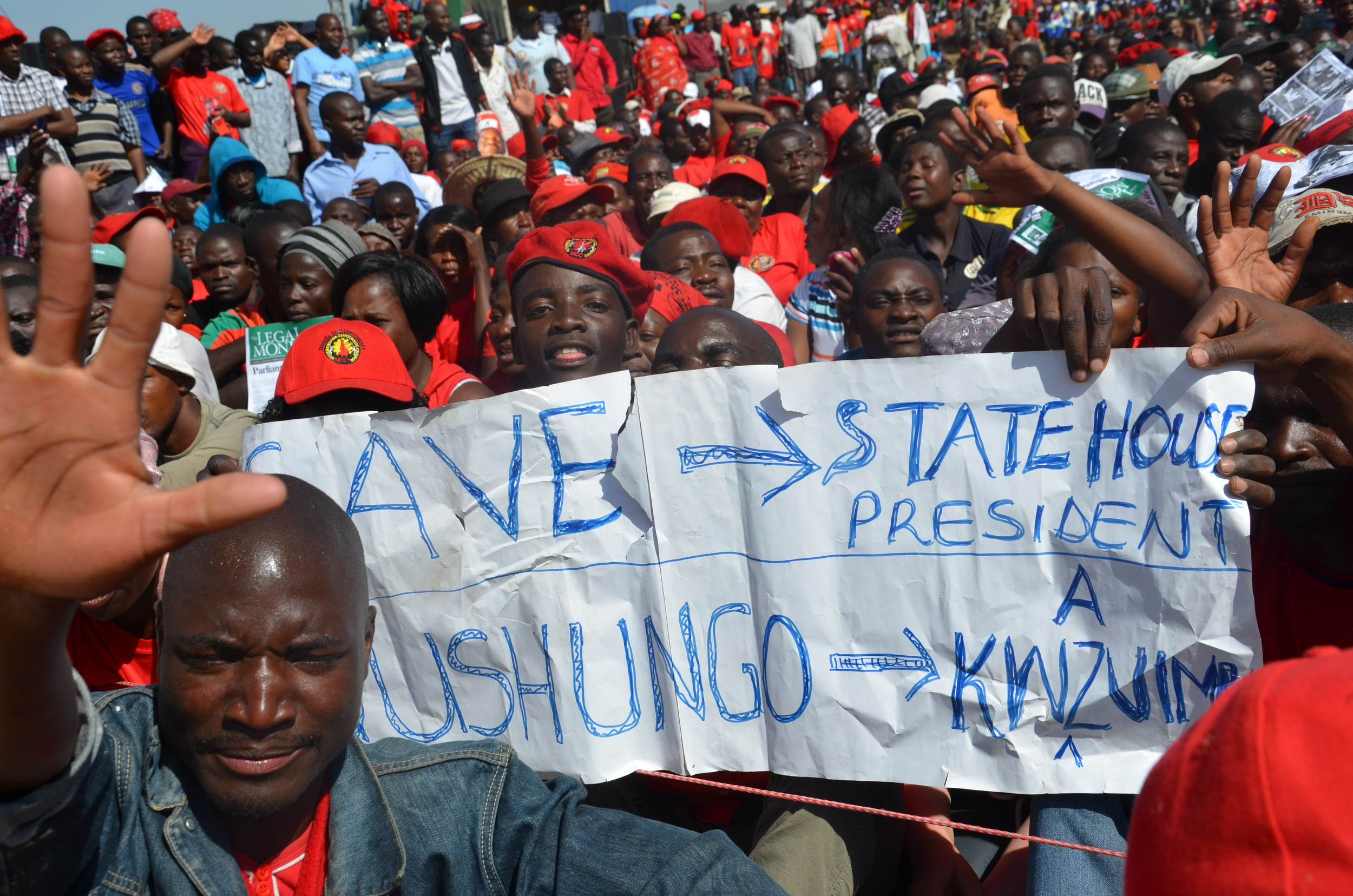 MDC Supporters bidding a farewell that never was