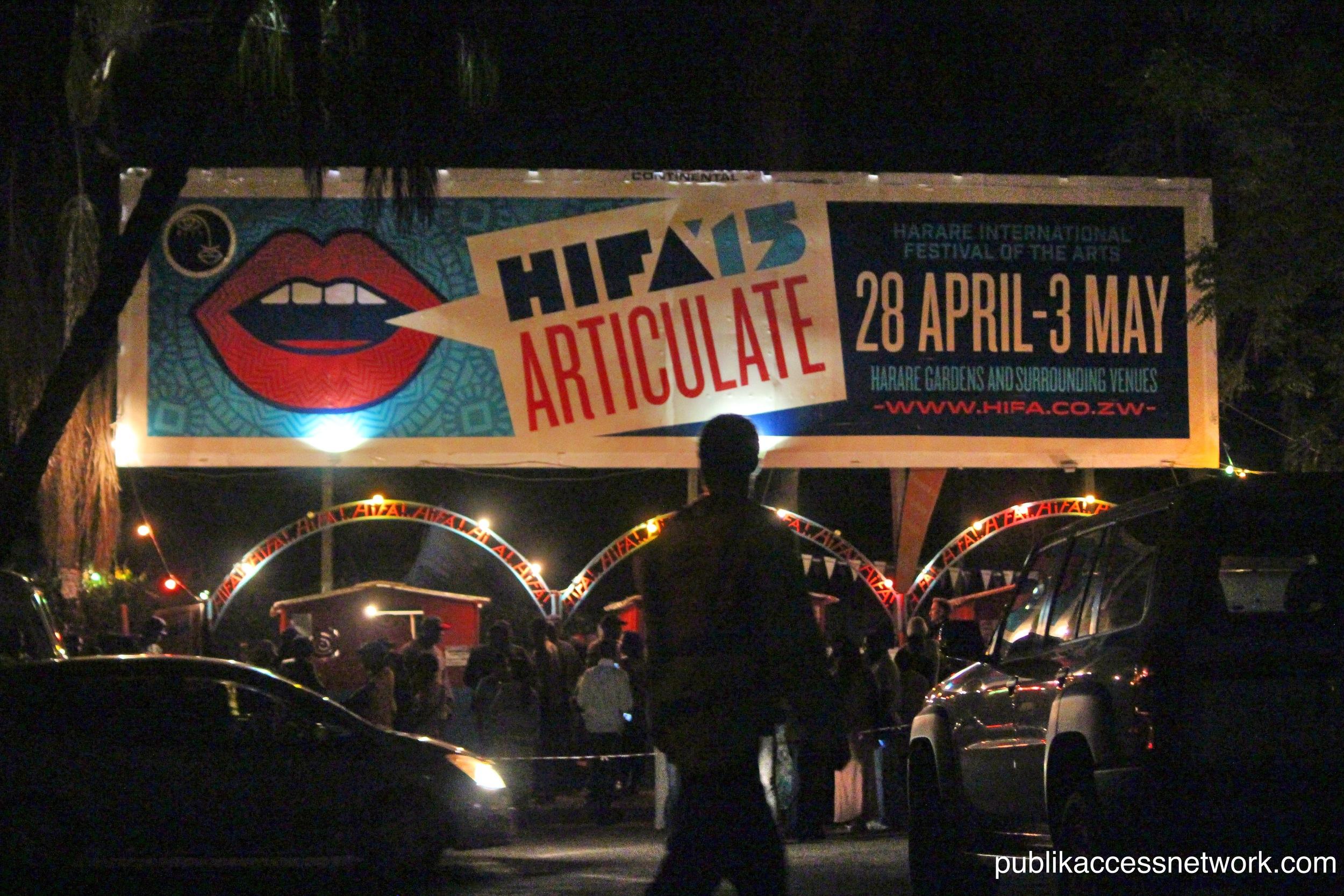 The main entrance to Hifa 2015
