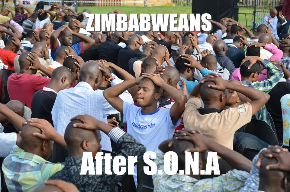 A meme showing the level of 'helplessness' and uncertainty after the much anticipated SONA in Zimbabwe.