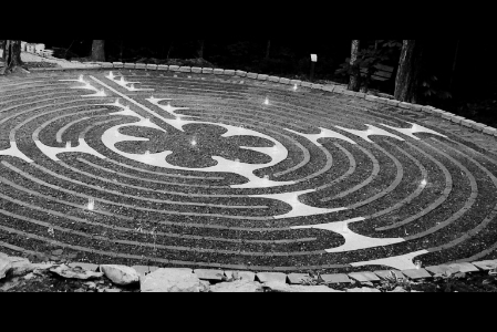 The Labyrinth was constructed by volunteers from Blue Ridge Presbyterian Church.