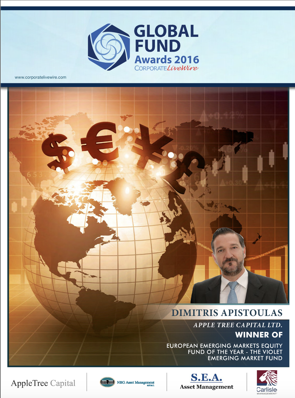 August 2016, Corporate Livewire Global Fund Awards 2016 – Best Investment Industry IT Provider USA