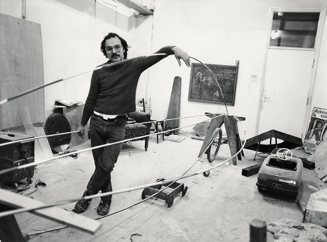 Ron Huebner, Jan van Eyck Academie studio, Maastricht 1986