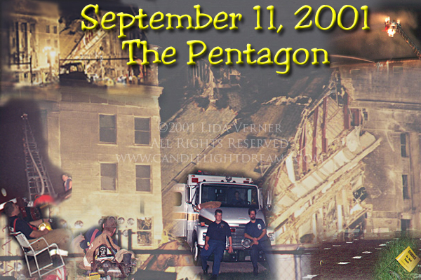 A few images taken at the Pentagon the night of September 11, 2001