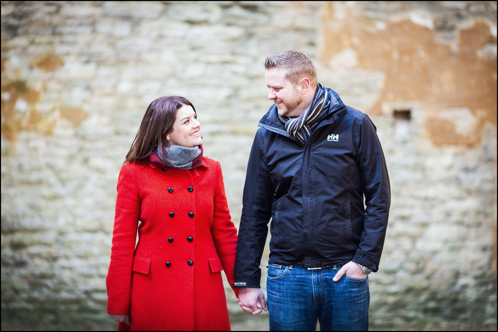 Jess & Matt, Minster Lovell Ruins engagement photography.