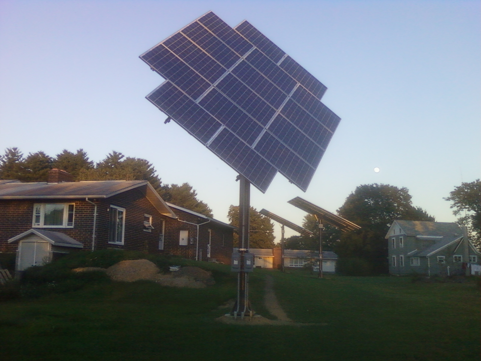 10 KW Solar system two fixed arrays and one tracking array