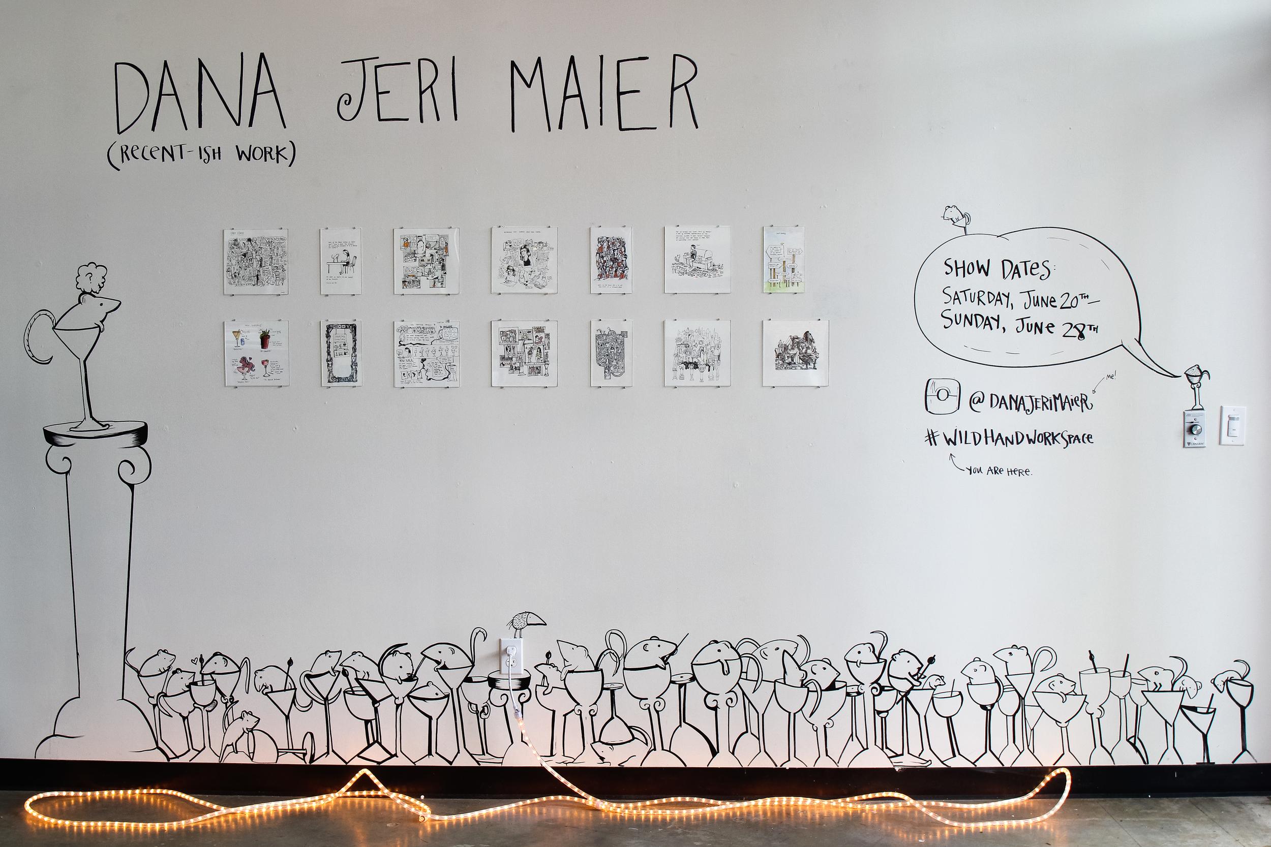 Artist Dana Jeri Maier at Wild Hand Workspace.