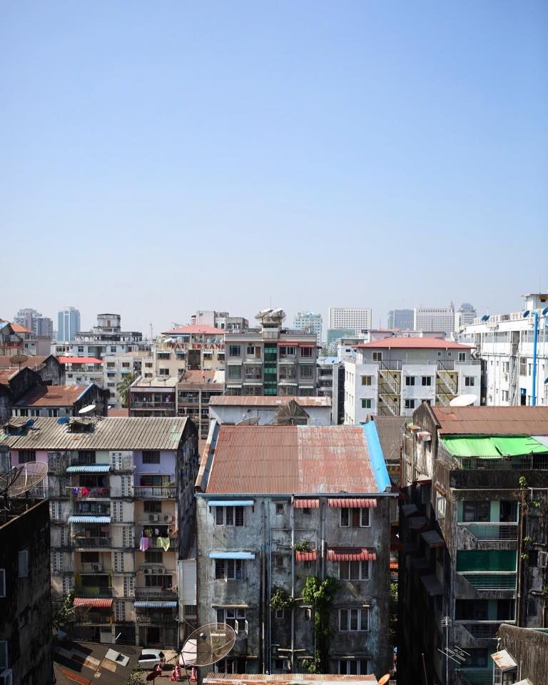Downtown Yangon. December 2016.